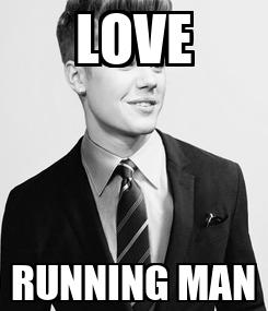Poster: LOVE RUNNING MAN
