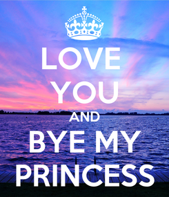 Poster: LOVE  YOU AND BYE MY PRINCESS