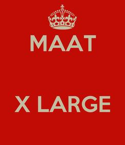 Poster: MAAT   X LARGE