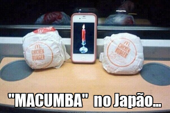 "Poster:  ""MACUMBA""  no Japão..."