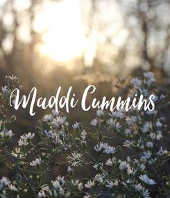 Poster: Maddi Cummins