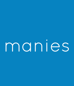 Poster: manies