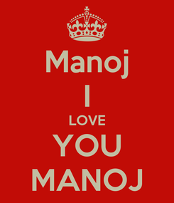 Poster: Manoj I LOVE YOU MANOJ