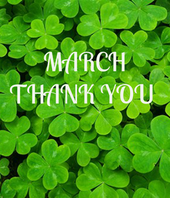 Poster: MARCH THANK YOU