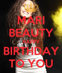 Poster: MARI BEAUTY HAPPY BIRTHDAY TO YOU