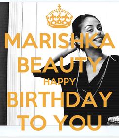 Poster: MARISHKA BEAUTY HAPPY BIRTHDAY TO YOU
