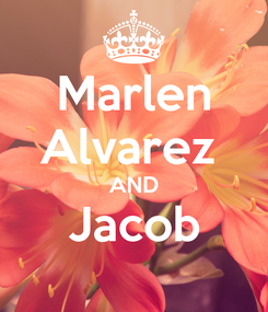 Poster: Marlen Alvarez  AND Jacob