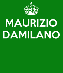 Poster: MAURIZIO DAMILANO