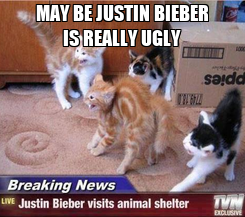Poster: MAY BE JUSTIN BIEBER IS REALLY UGLY