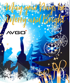 Poster: May your Days be  Merry and Bright
