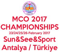 Poster: MCO 2017 CHAMPIONSHIPS 23/24/25/26-February 2017 Sun&See&Sport Antalya / Türkiye