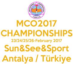 Poster: MCO2017 CHAMPIONSHIPS 23/24/25/26-February 2017 Sun&See&Sport Antalya / Türkiye