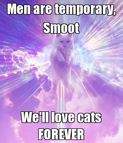 Poster: Men are temporary, Smoot We'll love cats FOREVER