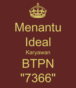 "Poster: Menantu Ideal Karyawan BTPN ""7366"""