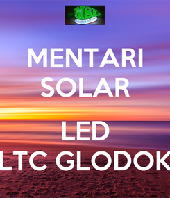 Poster: MENTARI SOLAR  LED LTC GLODOK