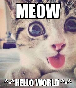 Poster: MEOW ^-^HELLO WORLD ^-^