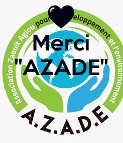 Poster: Merci ''AZADE''