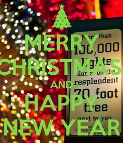 Poster: MERRY CHRISTMAS  AND HAPPY NEW YEAR