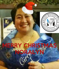 Poster:    MERRY CHRISTMAS NORALYN