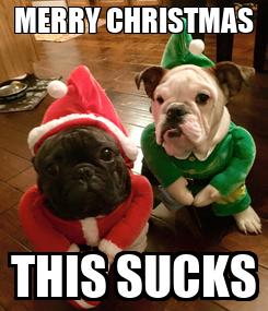 Poster: MERRY CHRISTMAS THIS SUCKS