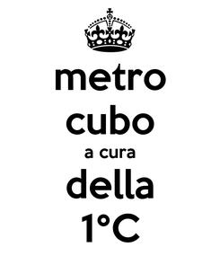 Poster: metro cubo a cura della 1°C