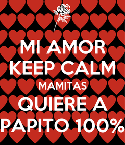 Poster: MI AMOR KEEP CALM MAMITAS QUIERE A PAPITO 100%