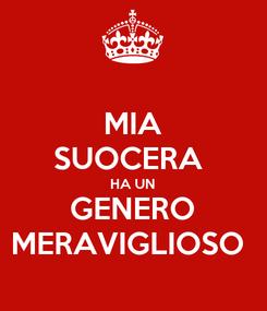 Poster: MIA SUOCERA  HA UN GENERO MERAVIGLIOSO