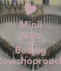 Poster: Minii Naiz Ohin Bolhiig Zowshoorooch