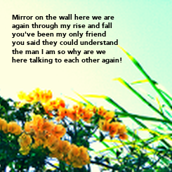 Poster: Mirror on the wall here we are