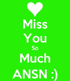 Poster: Miss You So Much ANSN :)