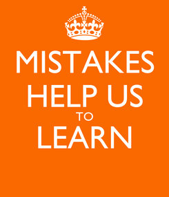 Poster: MISTAKES HELP US TO LEARN