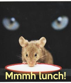 Poster:     Mmmh lunch!