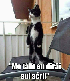 """Poster:  """"Mo tànt en dirâi sul séri!"""""""