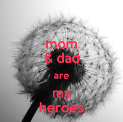Poster: mom & dad are my heroes