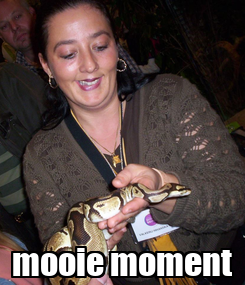 Poster:  mooie moment