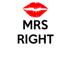 Poster: MRS RIGHT