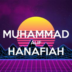 Poster:  MUHAMMAD ALIF HANAFIAH