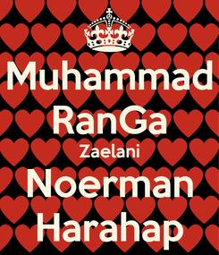Poster: Muhammad RanGa Zaelani Noerman Harahap