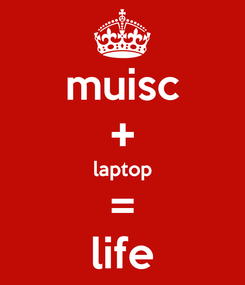 Poster: muisc + laptop = life