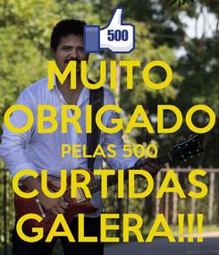 Poster: MUITO OBRIGADO PELAS 500 CURTIDAS GALERA!!!