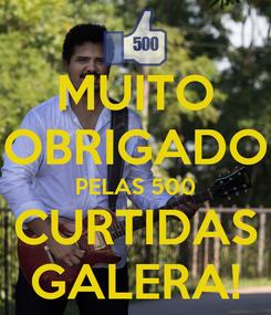 Poster: MUITO OBRIGADO PELAS 500 CURTIDAS GALERA!