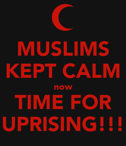Poster: MUSLIMS KEPT CALM now TIME FOR UPRISING!!!