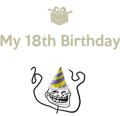 Poster: My 18th Birthday