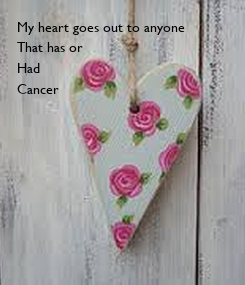 Poster: My heart goes out to anyone