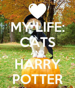 Poster: MY LIFE: CATS AND HARRY POTTER