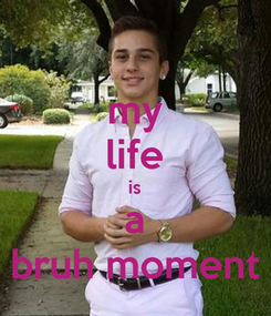 Poster: my life is a bruh moment