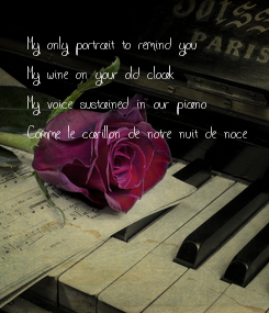 Poster: My only portrait to remind you