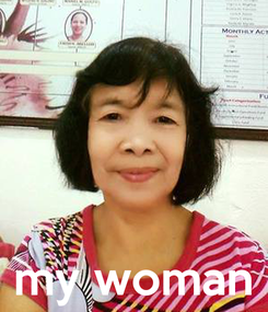 Poster:     my woman