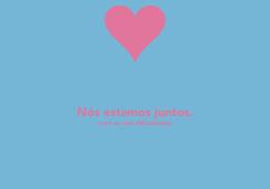 Poster:  Nós estamos juntos. (com ou sem dificuldades)