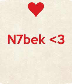 Poster:  N7bek <3